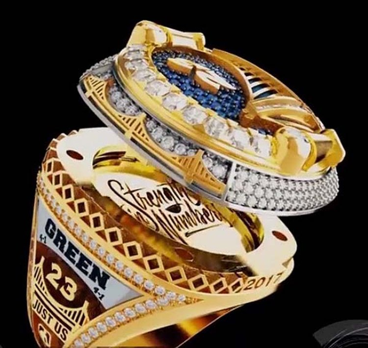 Golden State Warriors Unveil the First-Ever Reversible Championship Rings