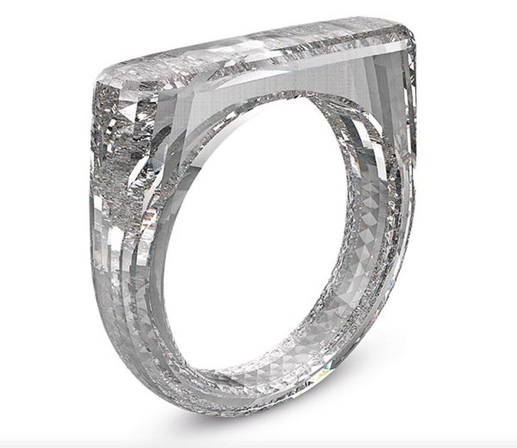 All-Diamond Ring Crafted From a Single Rough Gem May Fetch $250,000 at Benefit Auction