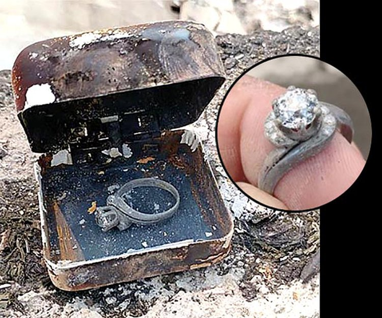 Wildfire Reduces His Family's Home to Rubble, But His Grandma's Ring Rises From the Ashes