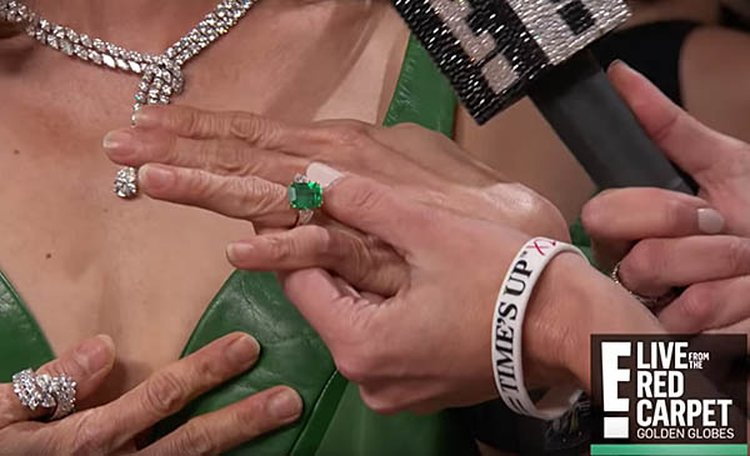 Michelle Yeoh Flashes Her 'Crazy Rich Asians' Emerald Ring at the Golden Globes