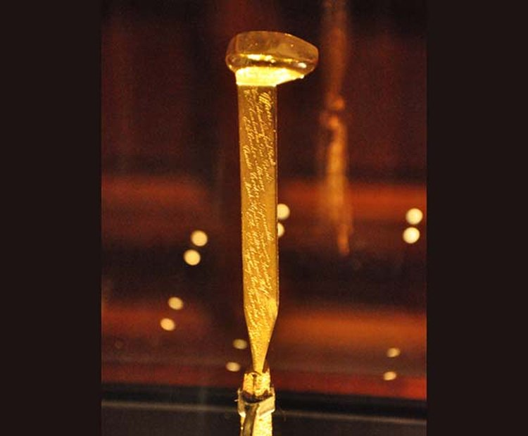 Golden Spike Symbolized Completion of Transcontinental Railroad 150 Years Ago