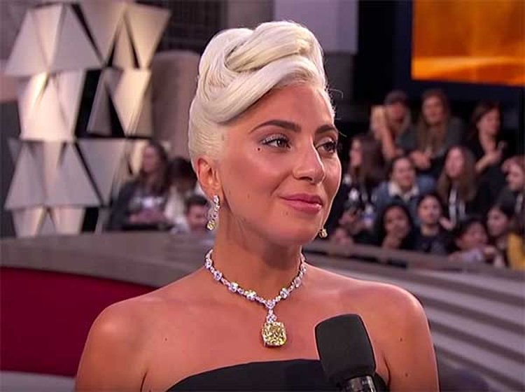 Everybody's Buzzing About the Yellow Diamond Lady Gaga Wore at the Oscars